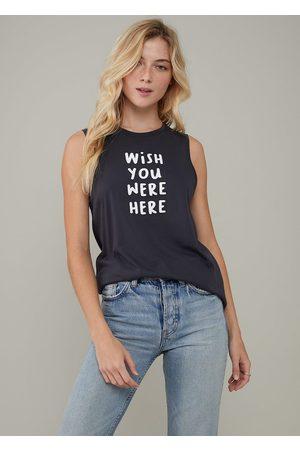 South Parade Whitney Wish You Were Here T Shirt - Smoke