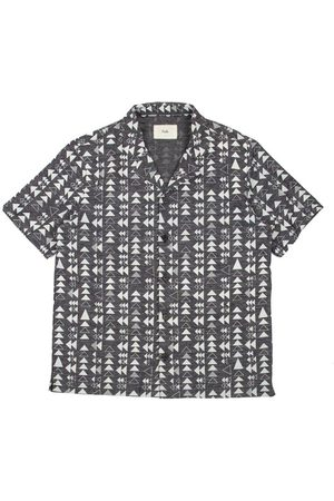 FOLK CLOTHING FOLK SS Soft Collar Shirt - TILE PRINT - 100% PORTUGUESE COTTON