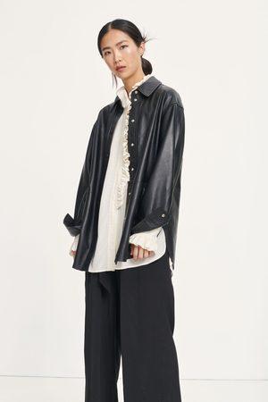 Samsøe Samsøe Ceti Leather Overshirt