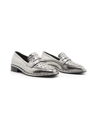 Schutz Metallic Loafers