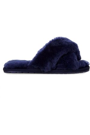 Emu EMU Mayberry Crossover Sheepskin Slipper Slide - Midnight
