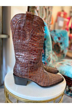 Pon´s quintana Rosana Croc Western Boots Toffee