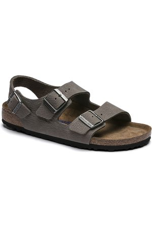 Birkenstock Men Sandals - Milano SFB Nubuck Sandal - Soft Whale Grey