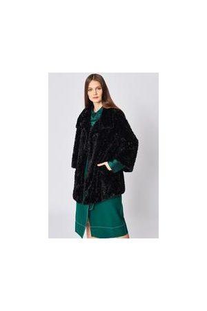 Jayley FF5023A-01 Faux Fur Coat in black