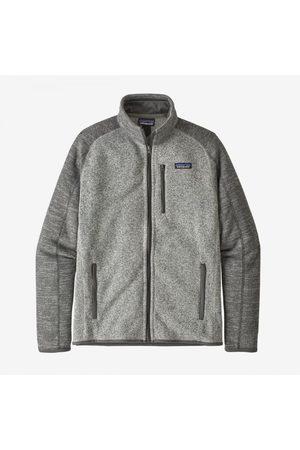Patagonia Men Fleece Jackets - Better Sweater Fleece Jacket - Nickel w/Forge Grey Colour: