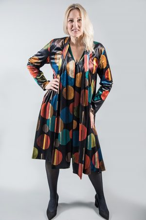 Out Of Xile SCARF COAT VELVET ECLIPSE