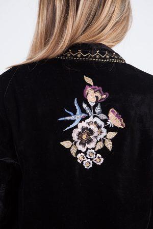 Derhy Saone Embroidered Velvet Jacket