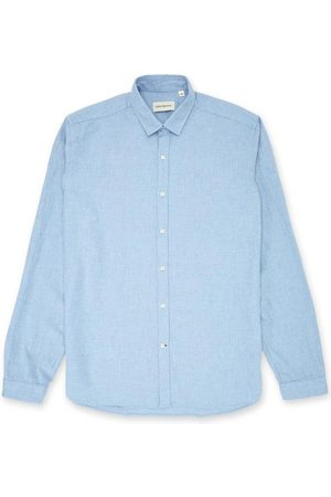 OLIVER SPENCER Clerkenwell Tab Shirt in Woburn Sky Blue
