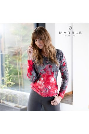 Marble Sweater 5790 - Col 109 Red and Grey
