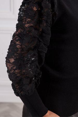 Derhy Bandana Lacy Sleeve Knit