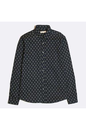 Far Afield Cognito Argali Print Long Sleeve Shirt in Dark Navy AFS326
