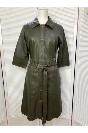 MDK / Munderingskompagniet Clare Leather Dress Dark Green