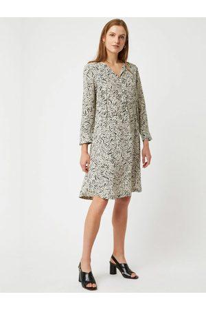 Great Plains Javan Print Dress in & White