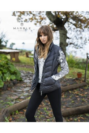Marble SHORT PUFFER JACKET - CHARCOAL