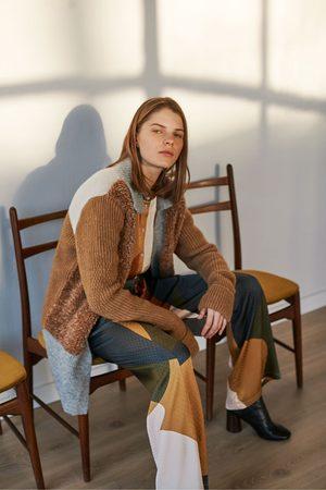 Sita Murt Patchwork Faux Fur Jacket