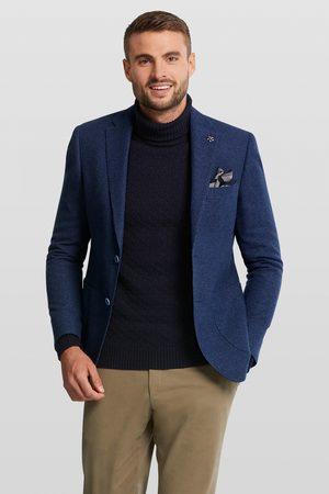 Vangils Elray Navy Melange Textured Blazer