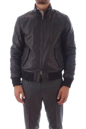 Bruto Men Leather Jackets - MEN'S U10M0031MARINE LEATHER OUTERWEAR JACKET