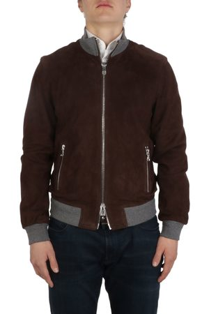 THE JACK LEATHERS MEN'S DERESUPE06 SUEDE OUTERWEAR JACKET