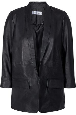 Co`Couture Cocouture Andrea Black Leather Blazer