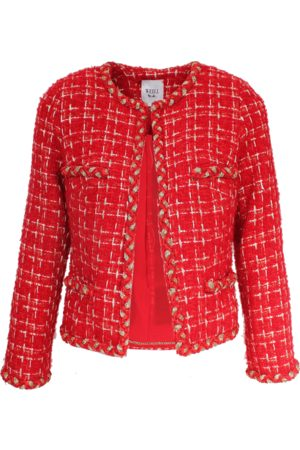 WEILL Marline Red Boucle Jacket 131001