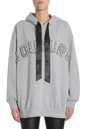 FORTE COUTURE WOMEN'S FC1SS1852GREY01 GREY COTTON SWEATSHIRT