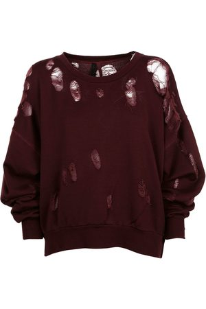 Unravel Project Women Sweatshirts - WOMEN'S UWBA004F170030083600 BURGUNDY COTTON SWEATSHIRT