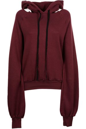Unravel Project WOMEN'S UWBB020F170080083600 BURGUNDY COTTON SWEATSHIRT