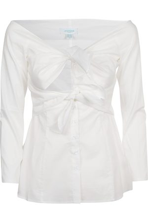 Jovonna WOMEN'S 350ARKETWHITE COTTON BLOUSE