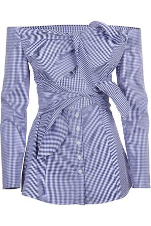 Jovonna WOMEN'S 350ARKETNAVYPINSTRIPE COTTON BLOUSE