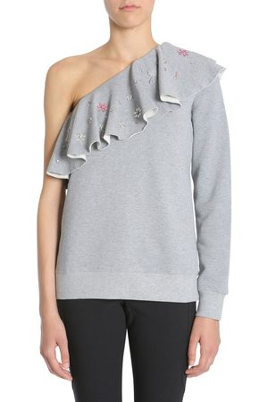 Msgm WOMEN'S 2343MDM200X17477796 GREY COTTON SWEATSHIRT
