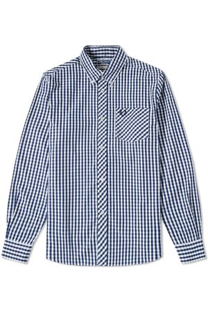 Fred Perry Reissues Gingham Shirt Navy
