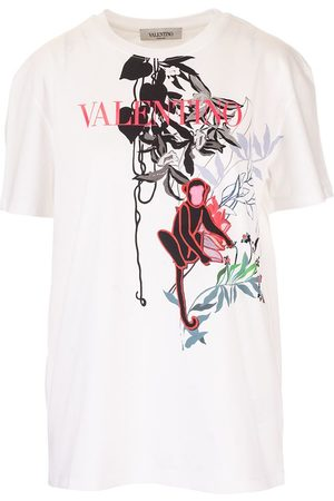 VALENTINO Women T-shirts - WOMEN'S TB0MG06T5H80BO COTTON T-SHIRT