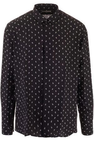 Saint Laurent Men Shirts - SAINT LAURENT MEN'S 564172Y5B061095 SILK SHIRT