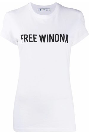OFF-WHITE WOMEN'S OWAA040E20JER0020110 COTTON T-SHIRT