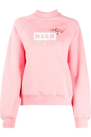 Msgm WOMEN'S 2941MDM7020779913 COTTON SWEATSHIRT