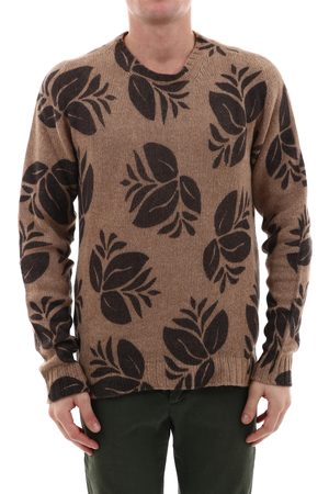 LANEUS Sweater with Leaves