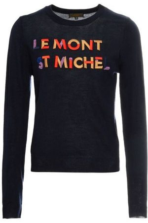 LE MONT SAINT MICHEL MSM Logo Embroidered Jumper - MIDNIGHT / MULTICOLOUR