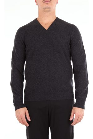 BARBA Beard anthracite v-neck sweater with long sleeves