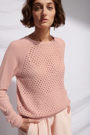 LE MONT SAINT MICHEL MSM Eyelet Sweater - LIGHT - LAST PIECE