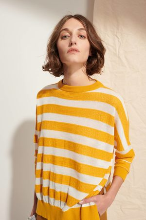 LE MONT SAINT MICHEL MSM Large Stripes Sweater - MUSTARD