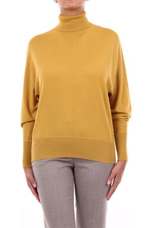 PESERICO SIGN Knitwear High Neck Women Mustard
