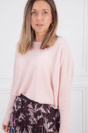 ABSOLUT CASHMERE Blush Astrid Scoop Neck Oversize Cashmere