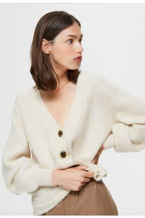 Selected Sif-Kai ls rib knit cardigan sandshell melange