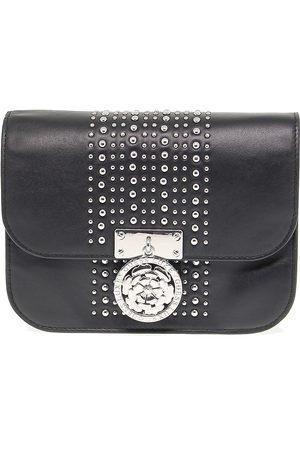 Guess WOMEN'S HWBOSTL8421BLACK LEATHER SHOULDER BAG