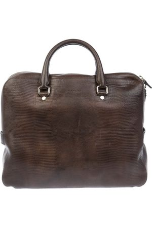Orciani MEN'S PB0014TMORO LEATHER BRIEFCASE