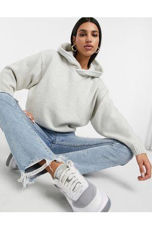 Weekday Hoodies - Ambra knitted hoodie in off