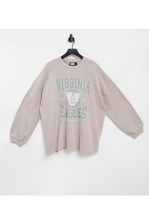 Reclaimed Vintage Inspired unisex oversized sweatshirt in washed with print