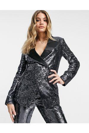 ASOS Suit blazer in sequin and contrast collar
