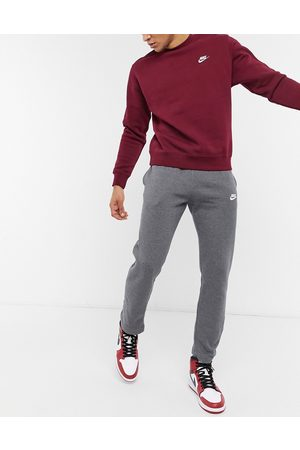 Nike Club open hem sweatpants in charcoal -Grey