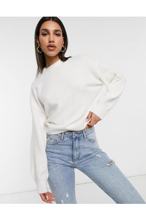 Weekday Aggie knitted sweater in off